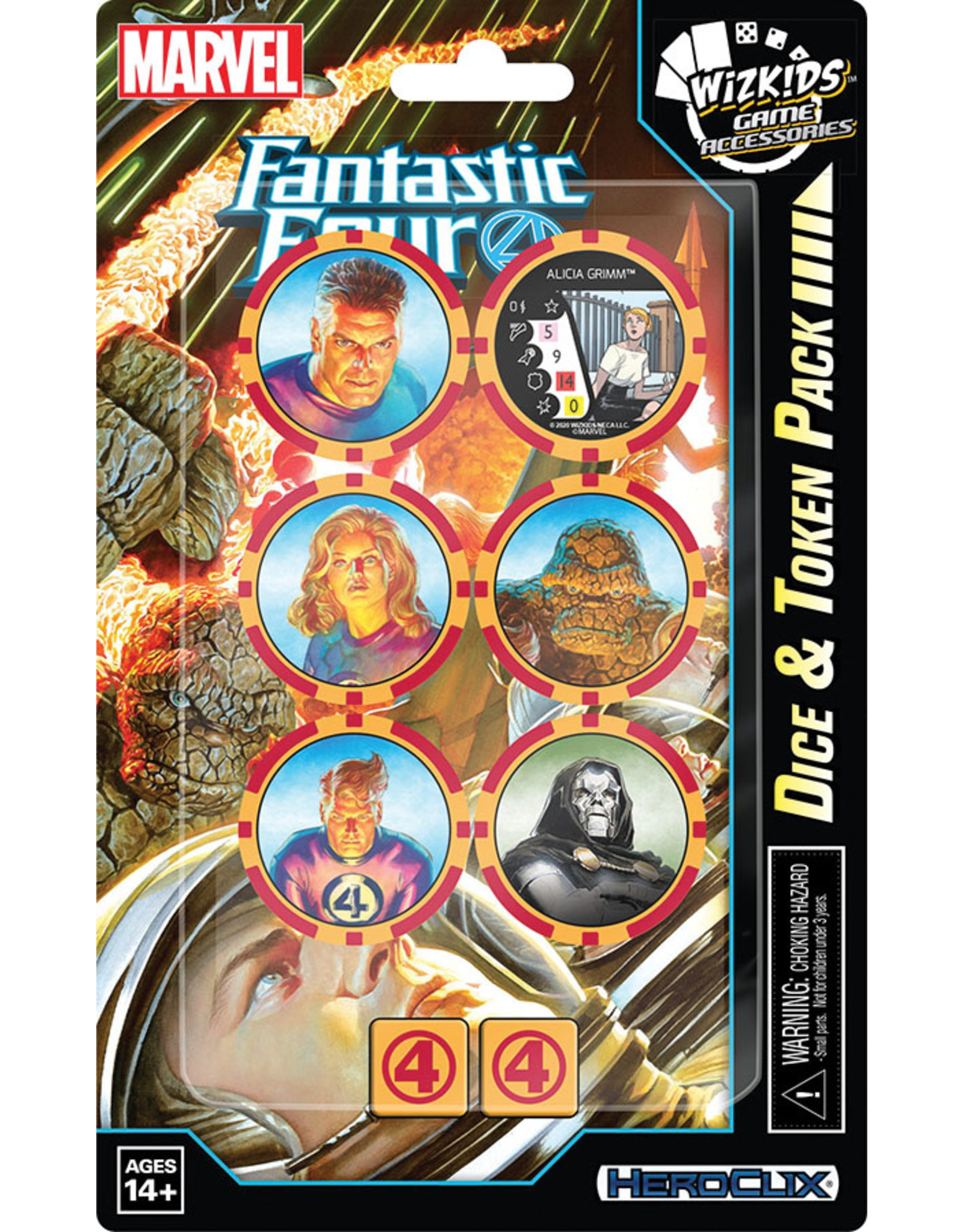 Wizkids Marvel HeroClix: Fantastic Four Dice and Token Pack