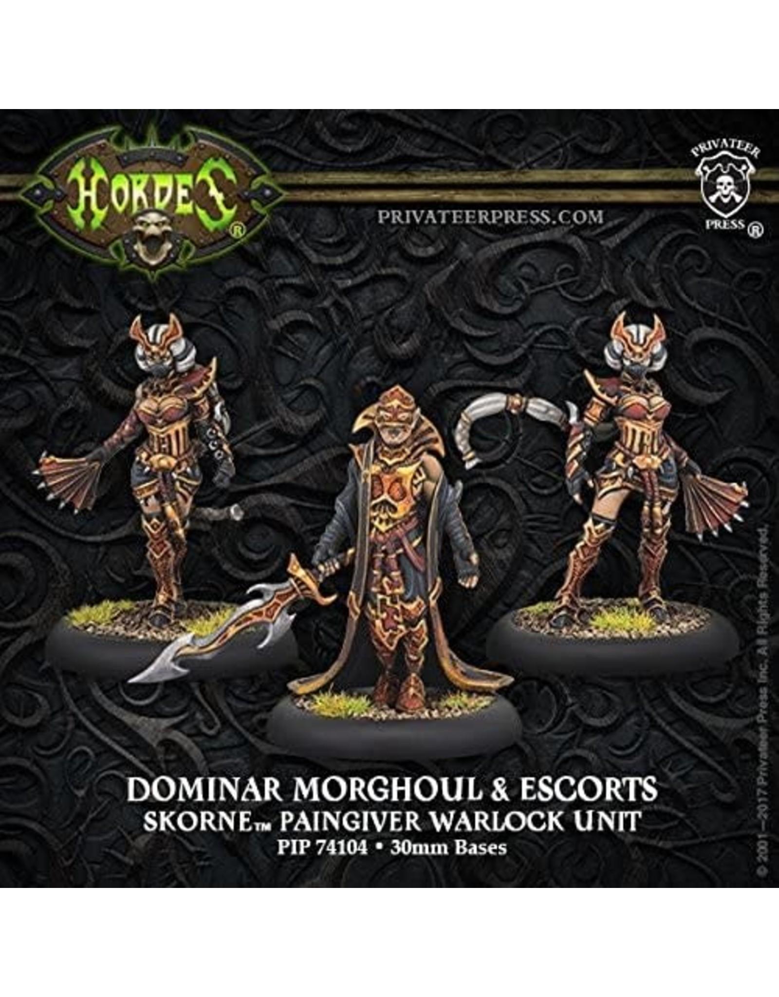 Privateer Press Dominar Morghoul & Escorts – Skorne Warlock Unit