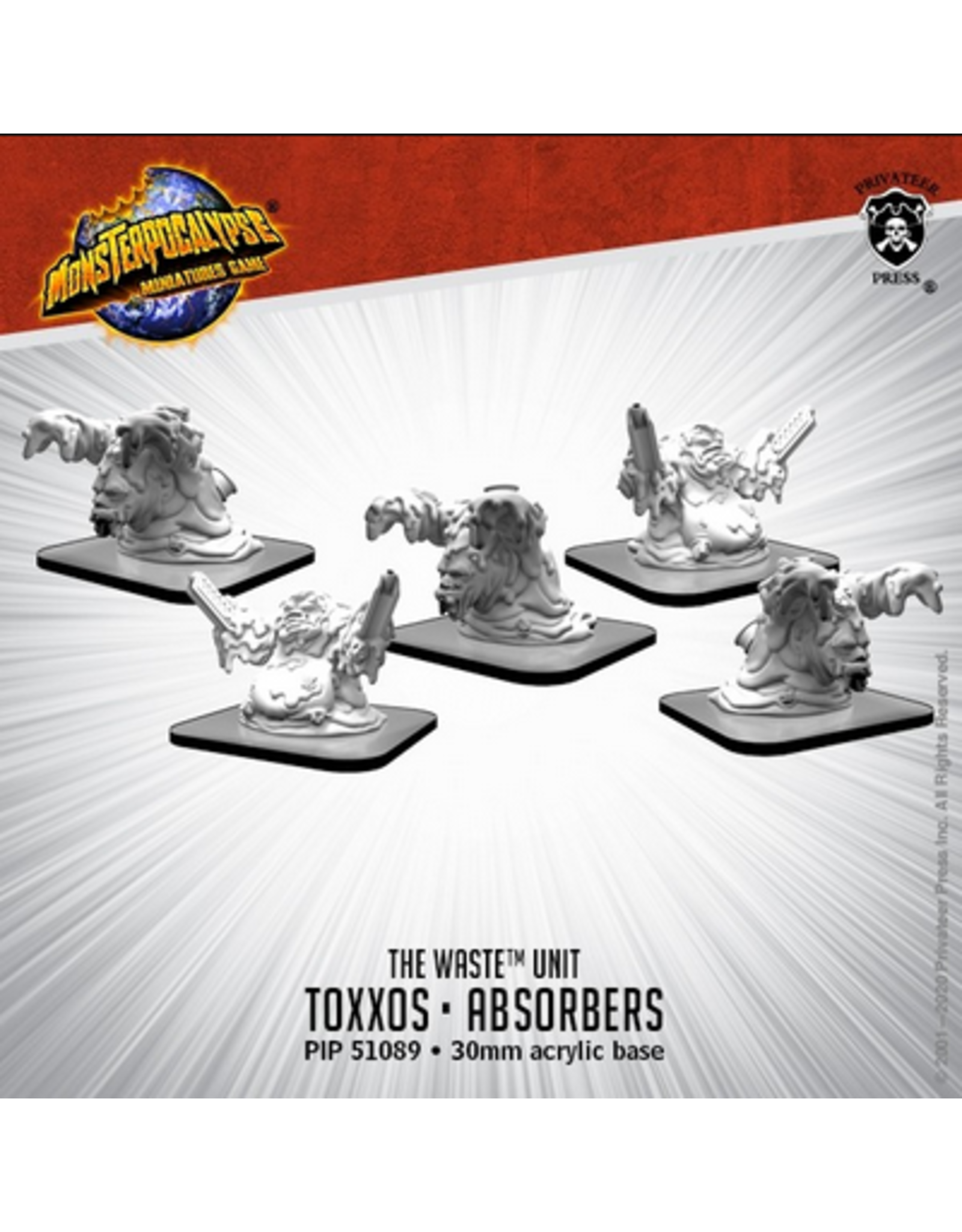 Privateer Press Toxxos and Absorbers – Monsterpocalypse Waste Unit (metal/resin)