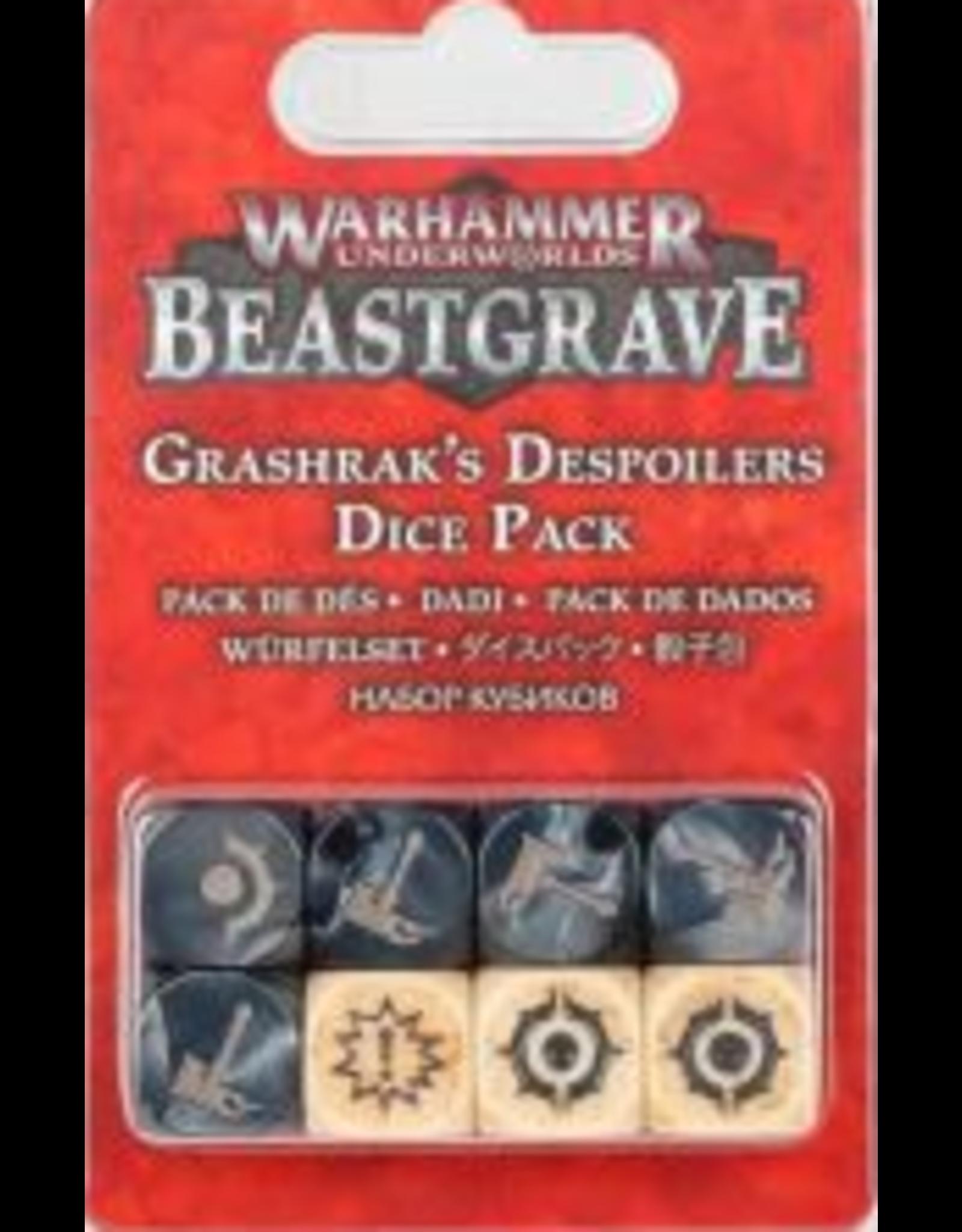 Games Workshop Warhammer Underworlds: Beastgrave Grashrak's Despoilers Dice Pack