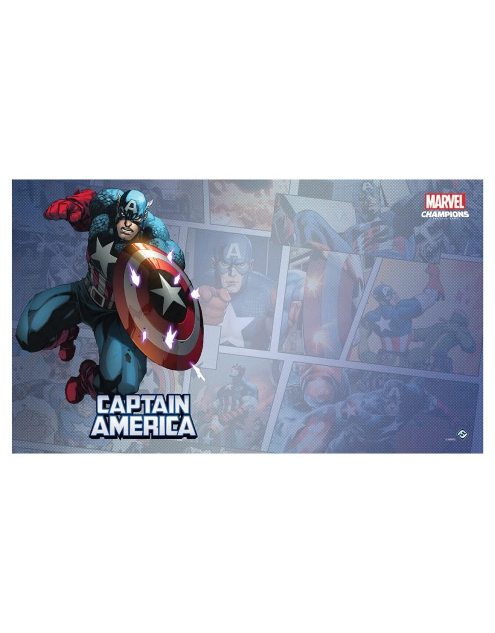 Fantasy Flight Games Marvel Champions LCG: Captain America Game Mat