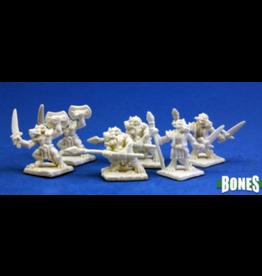 Reaper Dark Heaven Bones: Kobold Leaders Sprue (2)