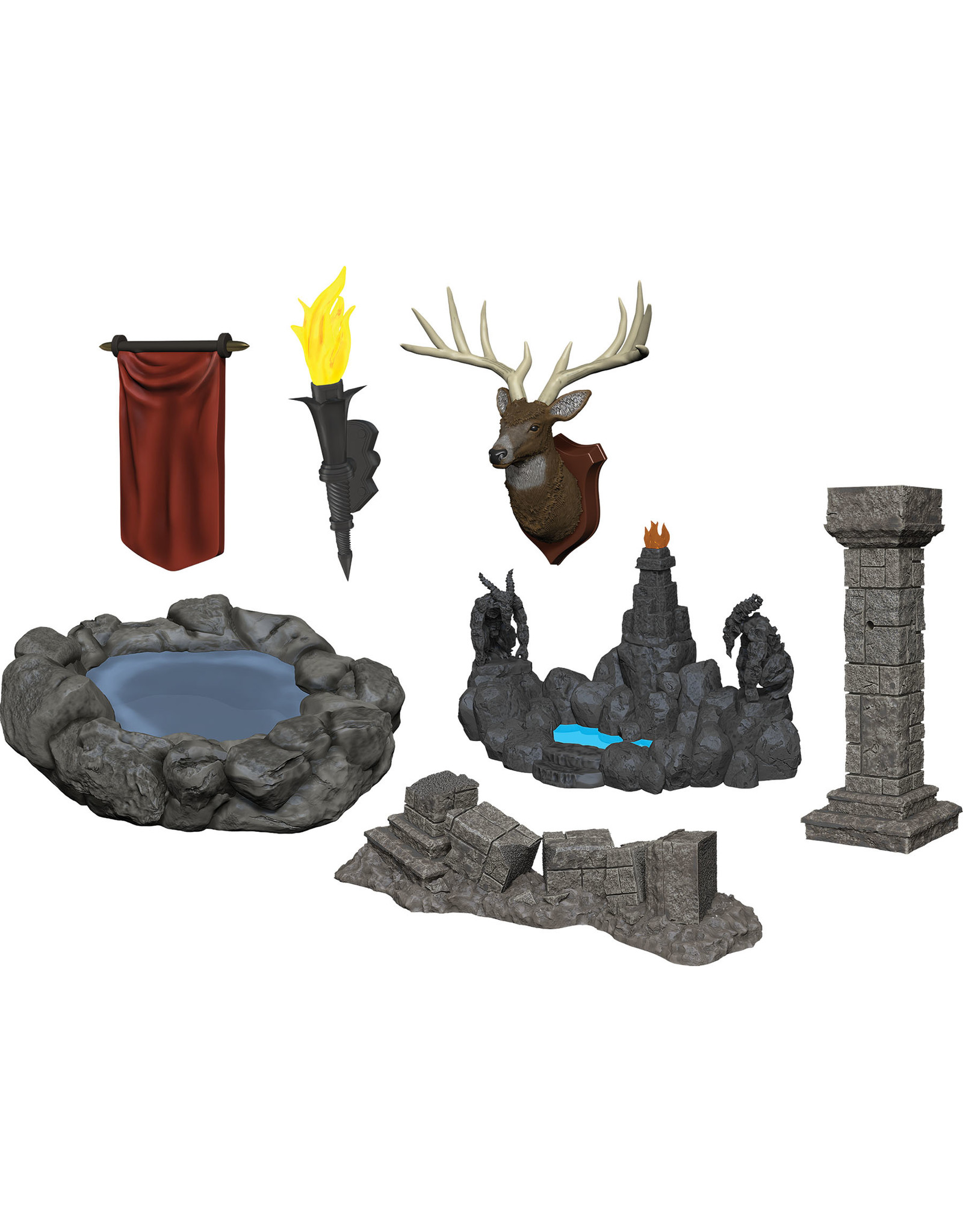 Wizkids W11 Pools & Pillars: WizKids Deep Cuts Unpainted Miniatures