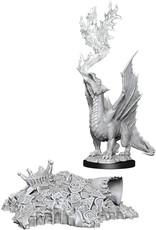 Wizkids D&D Nolzur's Marvelous Unpainted Miniatures: W11 Gold Dragon Wyrmling & Small Treasure Pile