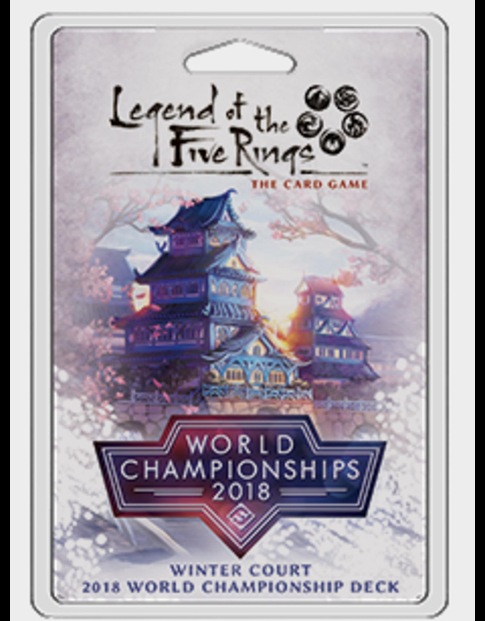 Fantasy Flight Games Legend of the Five Rings LCG: Winter Court 2018 World Championship Deck