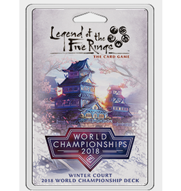Fantasy Flight Games Legend of the Five Rings LCG: Winter Court 2018 World Championship Deck