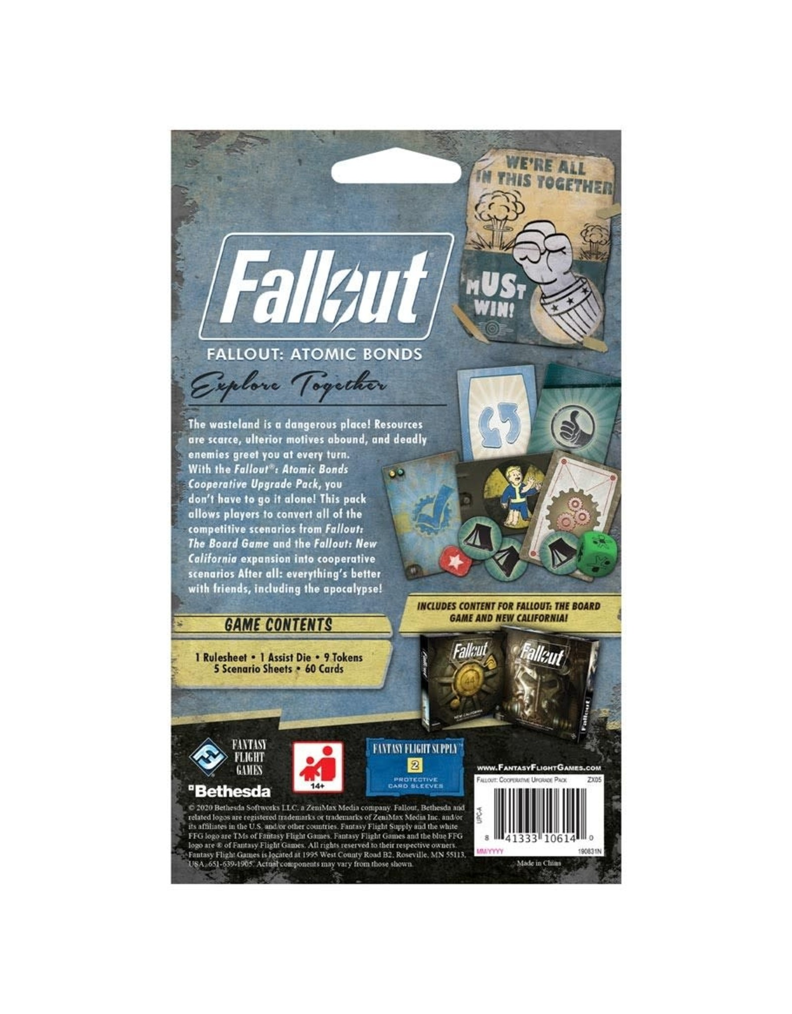 Fantasy Flight Games Fallout: The Board Game - Atomic Bonds Cooperative Upgrade Pack