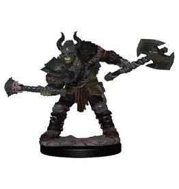 Wizkids Pathfinder Battles: Half-Orc Barbarian Male W1 Premium Painted Figure