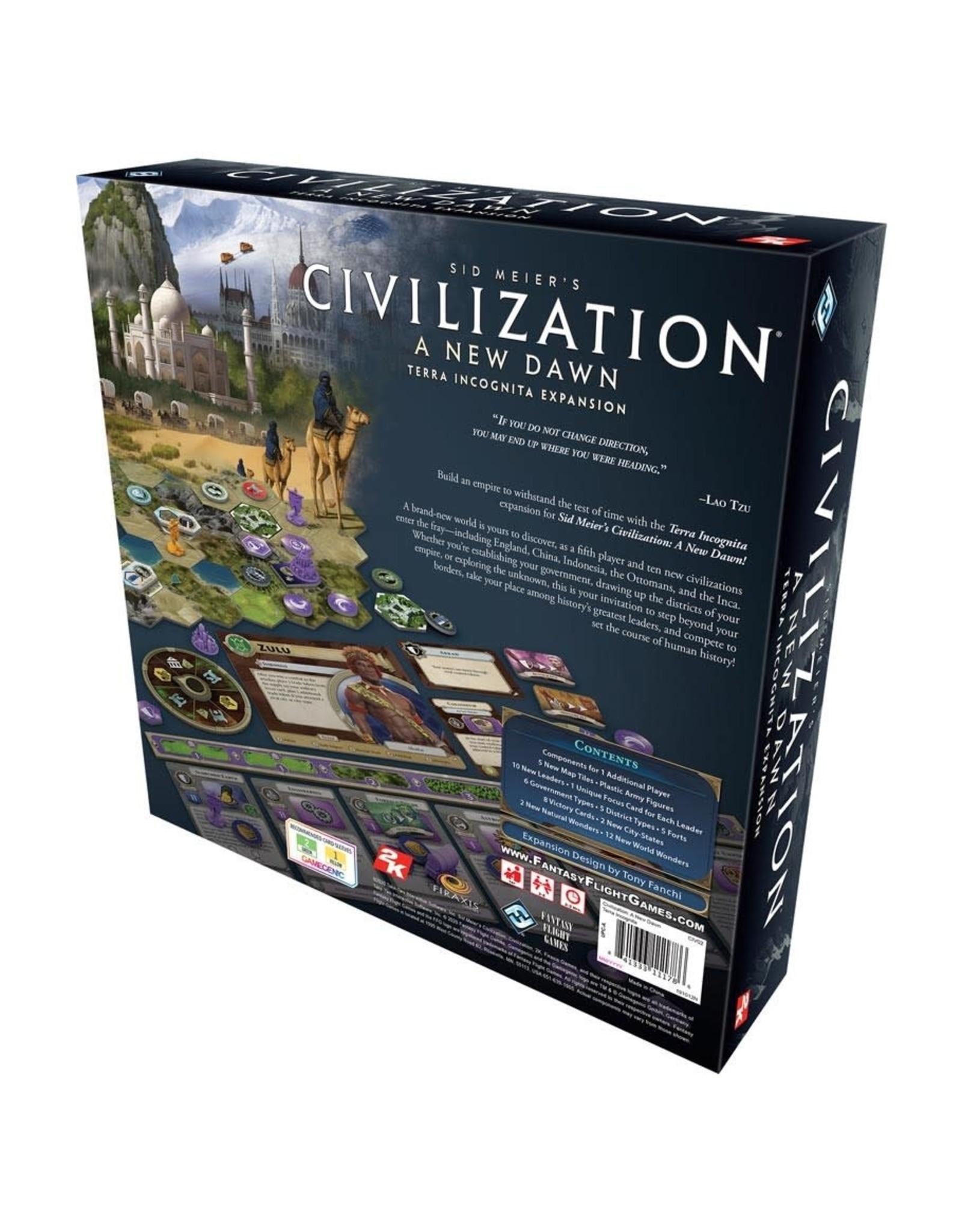 Fantasy Flight Games Civilization A New Dawn: Terra Incognita