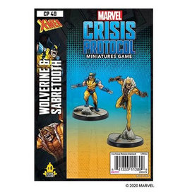 Atomic Mass Games Wolverine and Sabertooth - Marvel Crisis Protocol