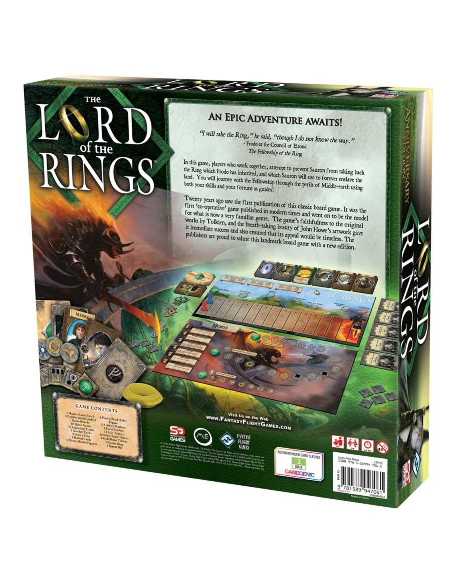 Fantasy Flight Games The Lord of the Rings: The Board Game Anniversary Edition