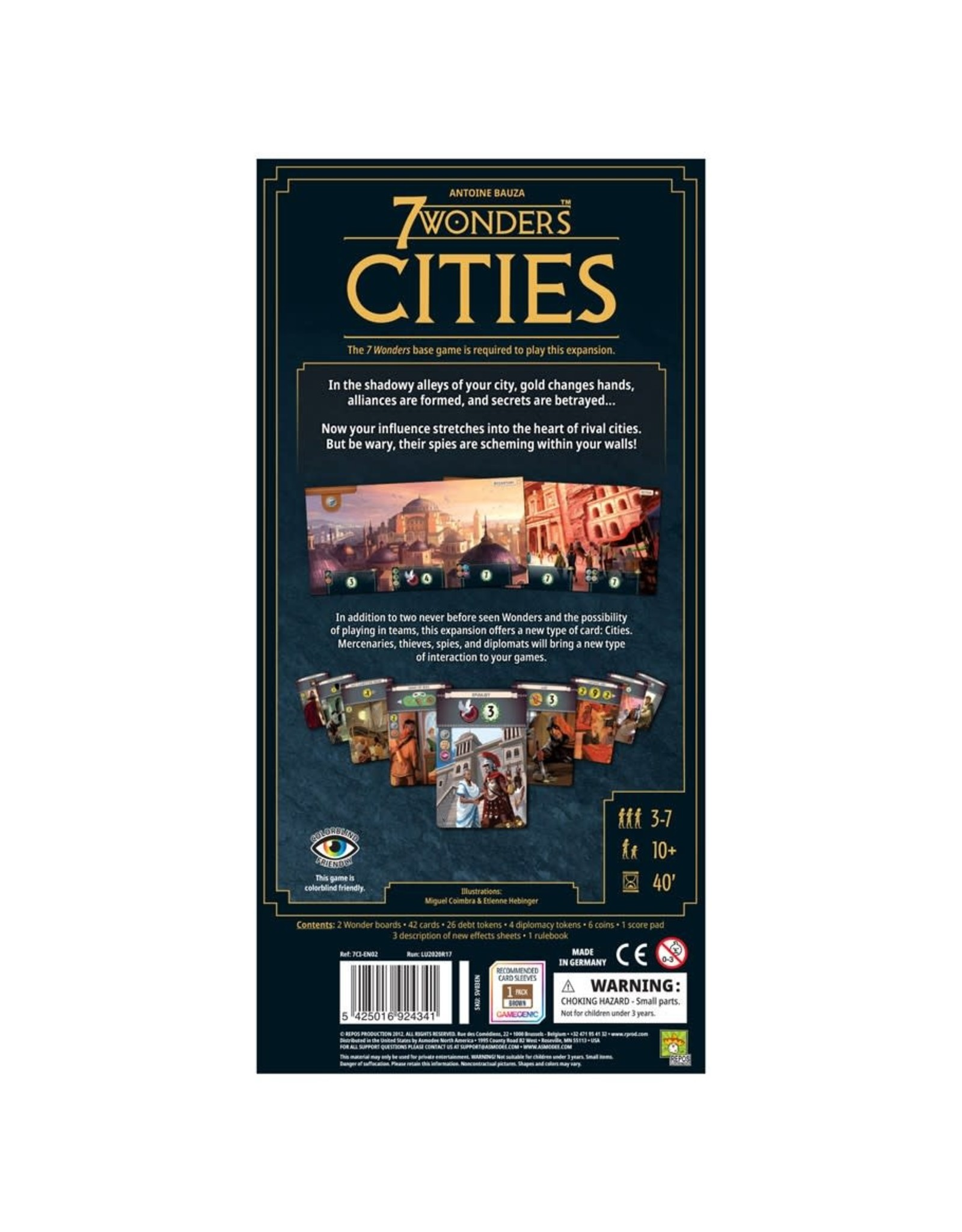 Asmodee 7 Wonders New Edition: Cities