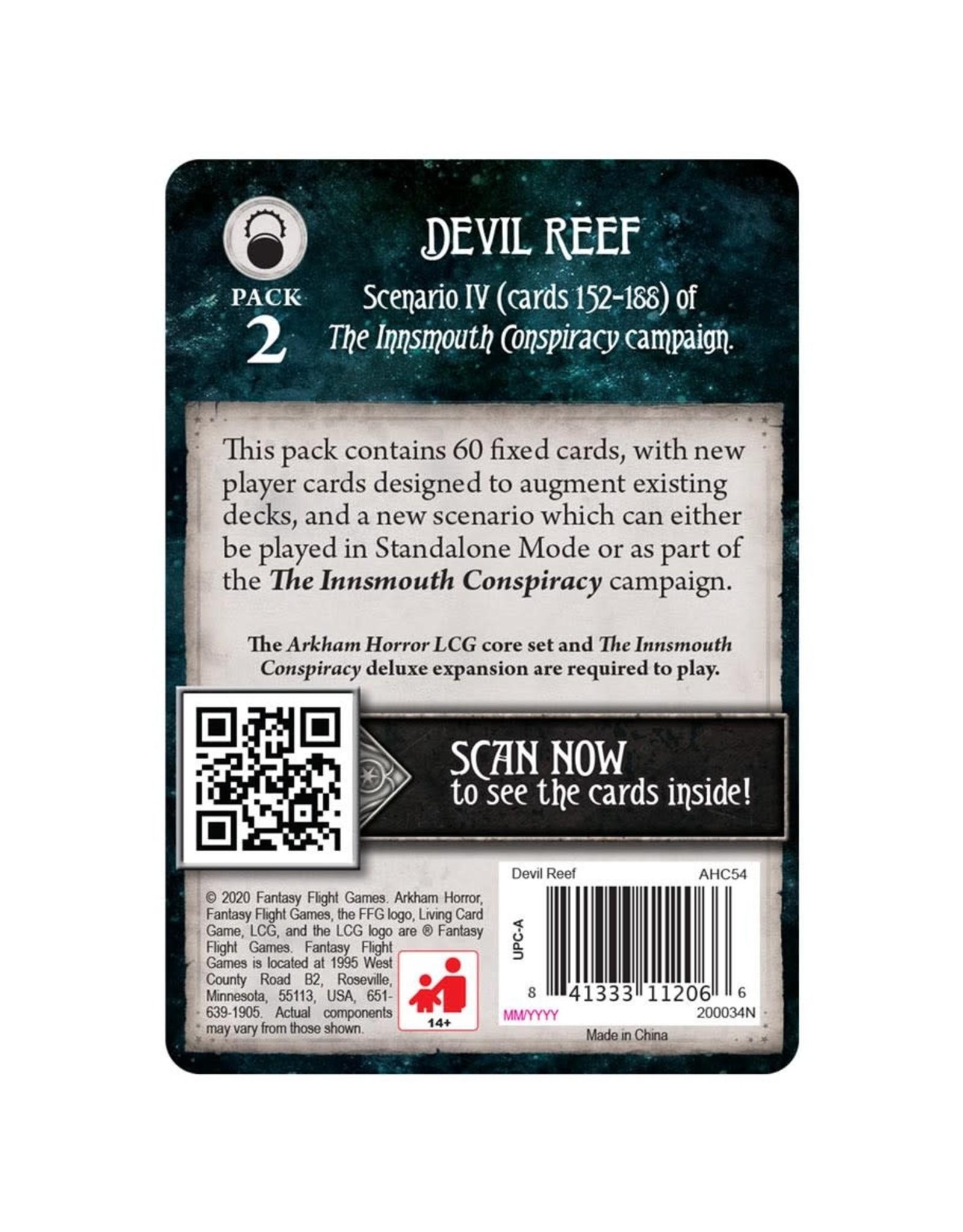 Fantasy Flight Games Arkham Horror LCG: Devil Reef Mythos Pack