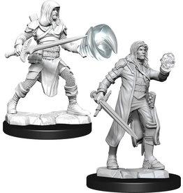 Wizkids W13 Multiclass Fighter + Wizard Male: D&D Nolzurs Marvelous Unpainted Minis
