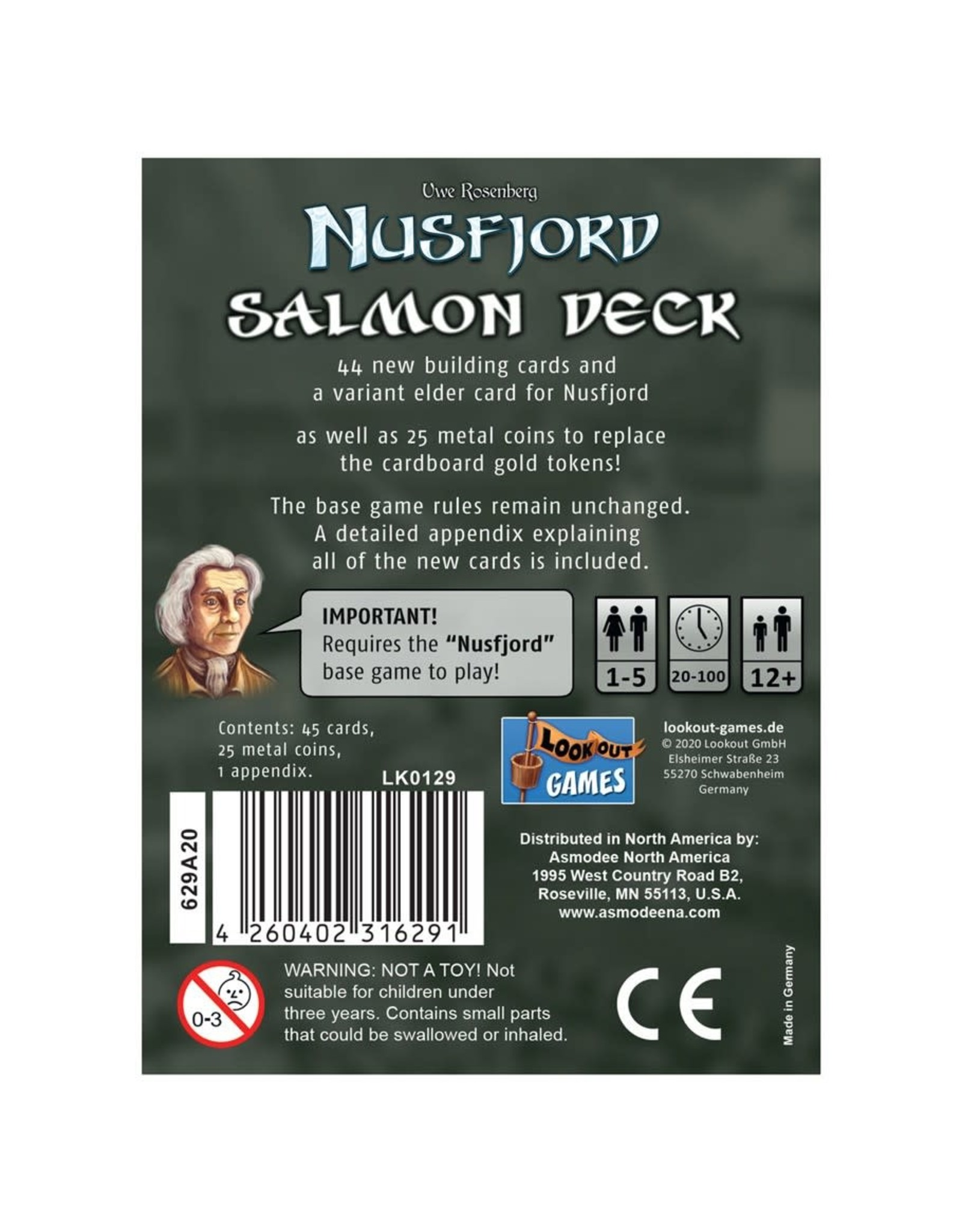 Lookout Games Nusfjord - Salmon Deck Expansion