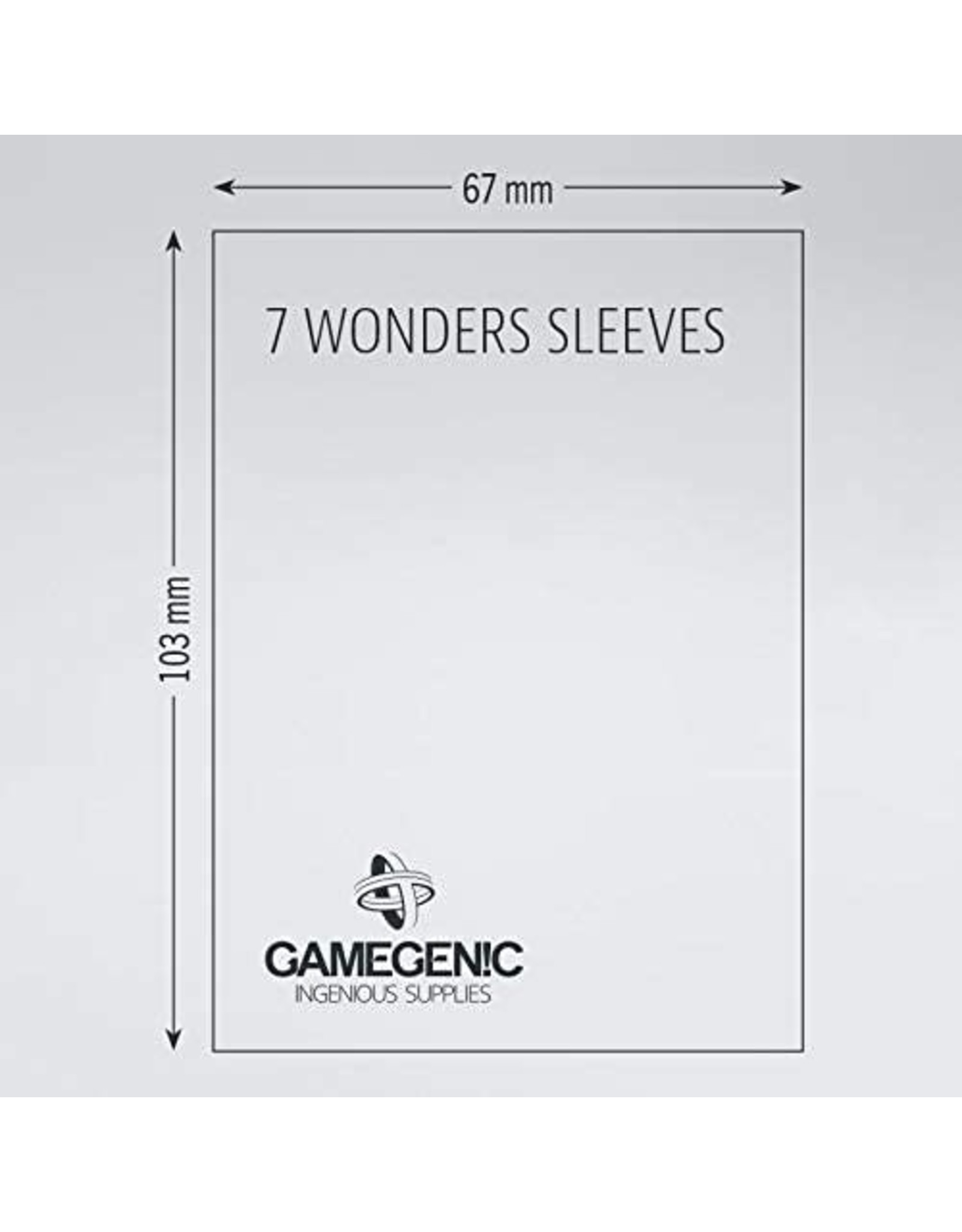 Gamegenic 7 Wonders: MATTE Board Game Sleeves