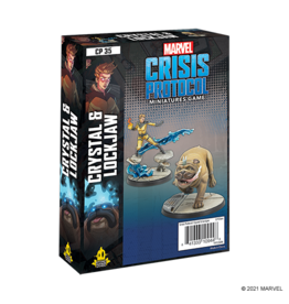 Atomic Mass Games Crystal and Lockjaw - Marvel Crisis Protocol