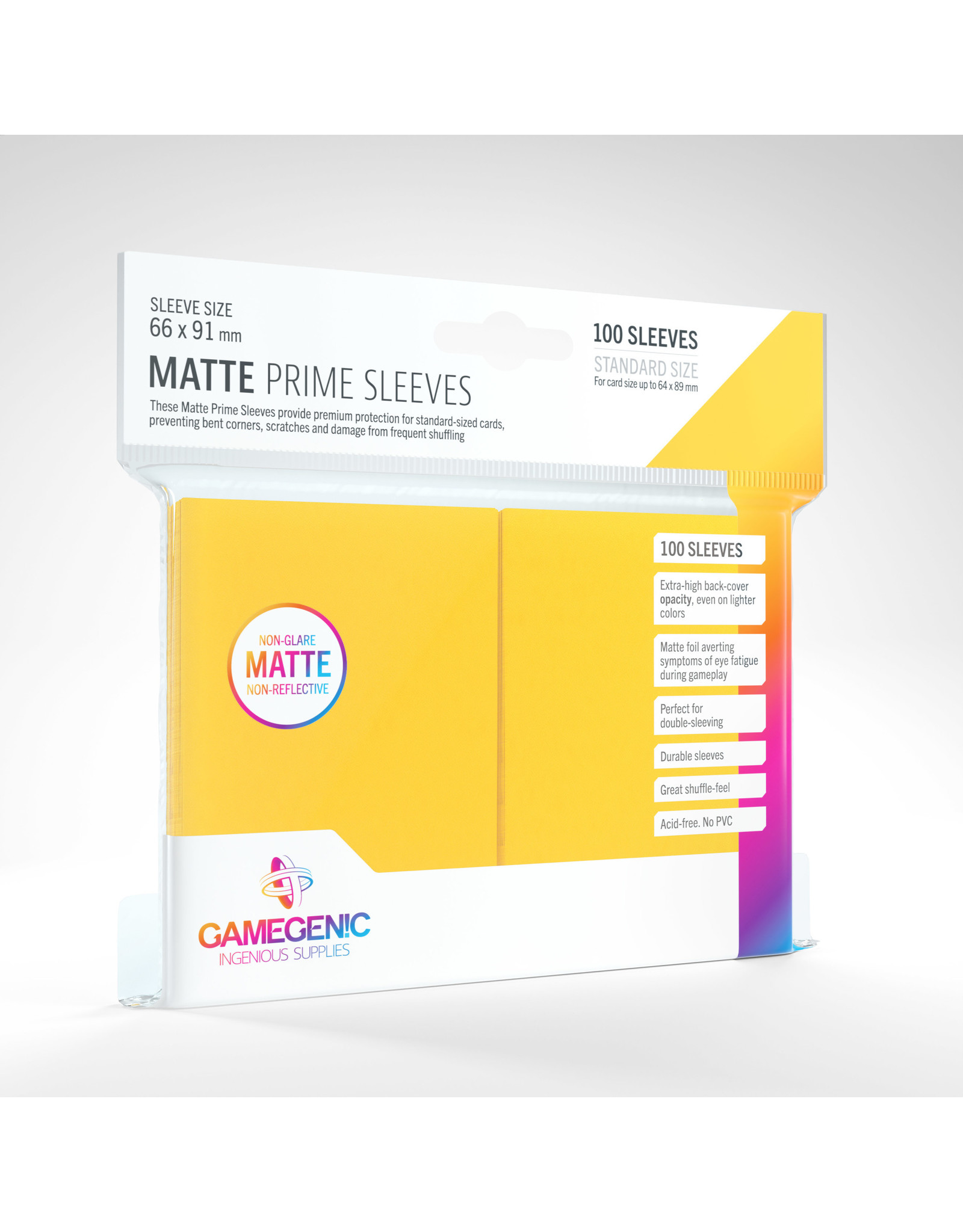 Gamegenic MATTE Prime Sleeves: Yellow