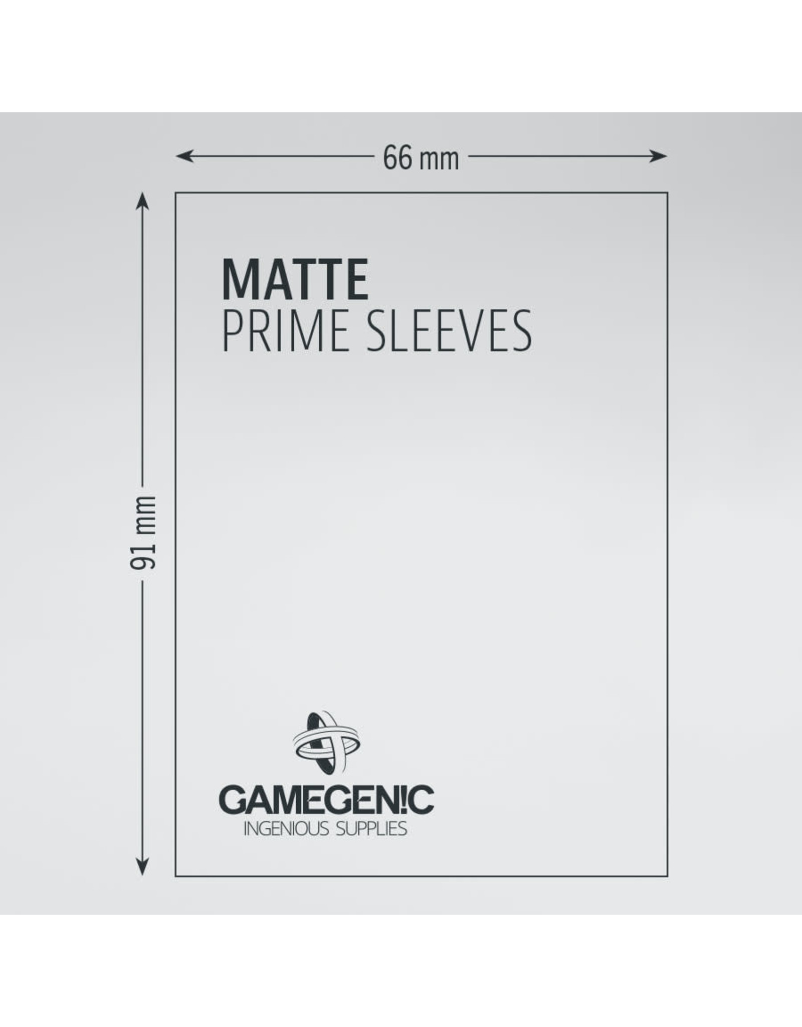 Gamegenic MATTE Prime Sleeves: Red