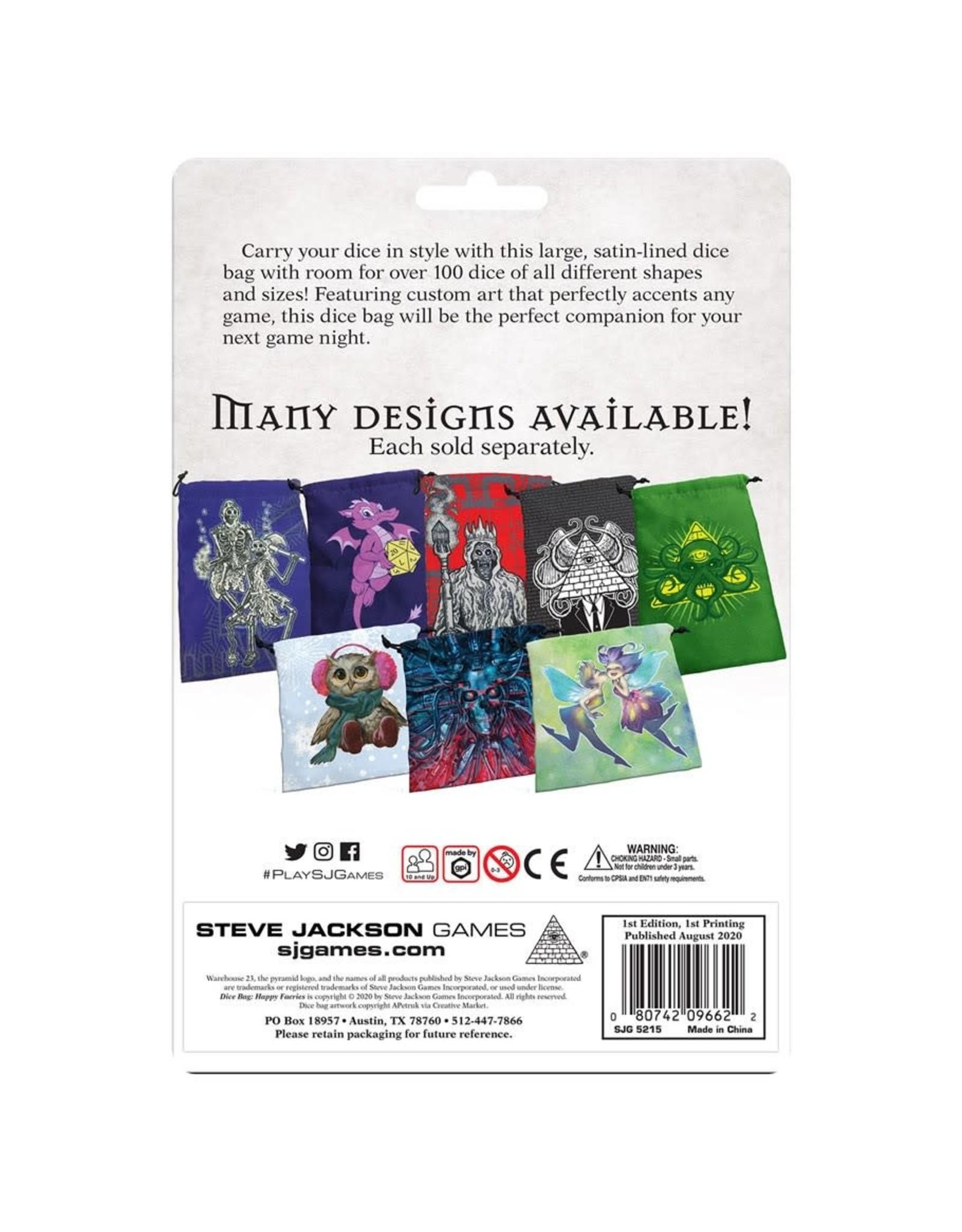 Steve Jackson Games Deluxe Dice Bag: Happy Faeries