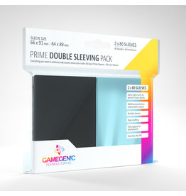 Gamegenic PRIME Double Sleeving Pack: Black