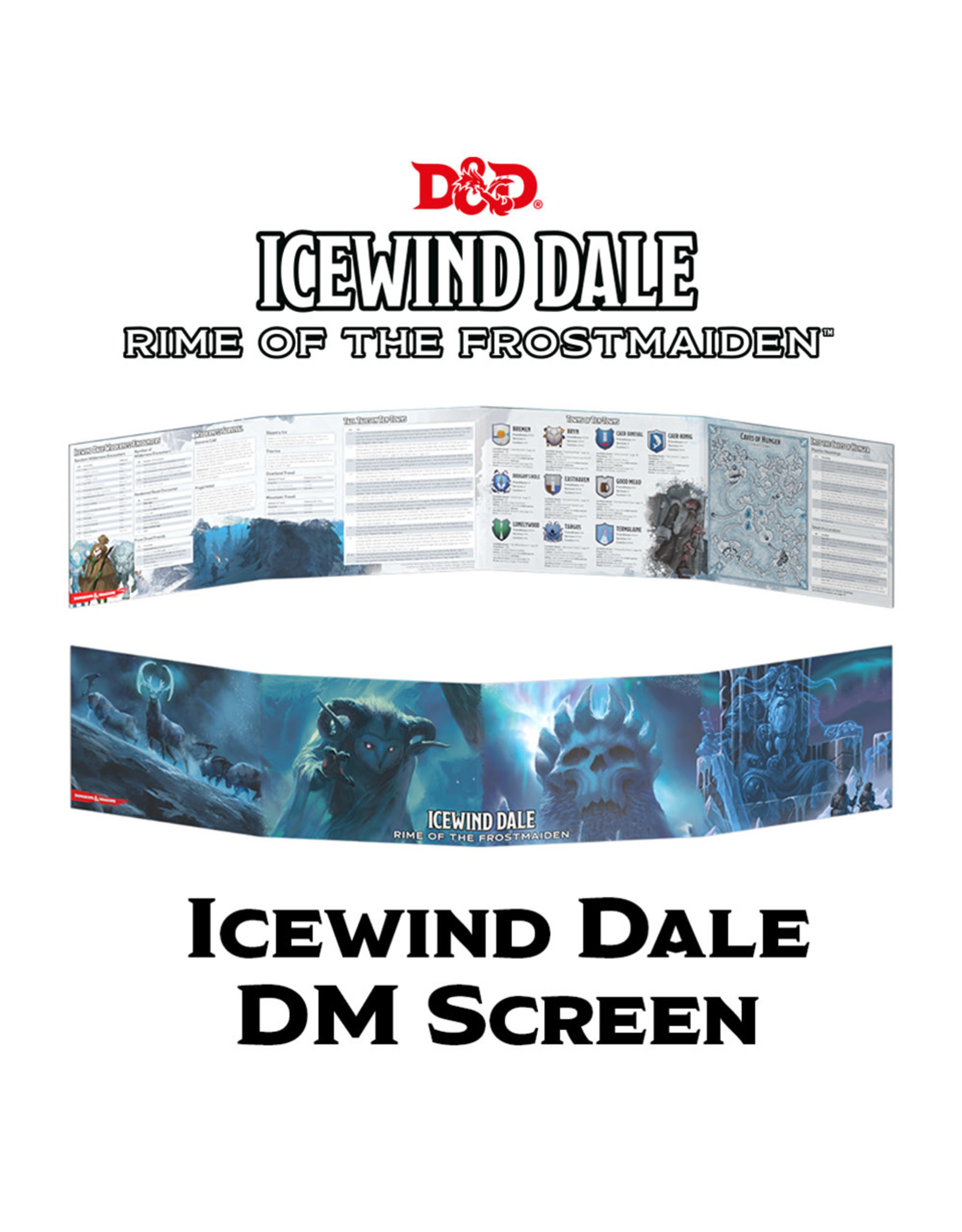 GaleForce Nine D&D 5th Edition DM Screen: Icewind Dale Rime of the Frostmaiden