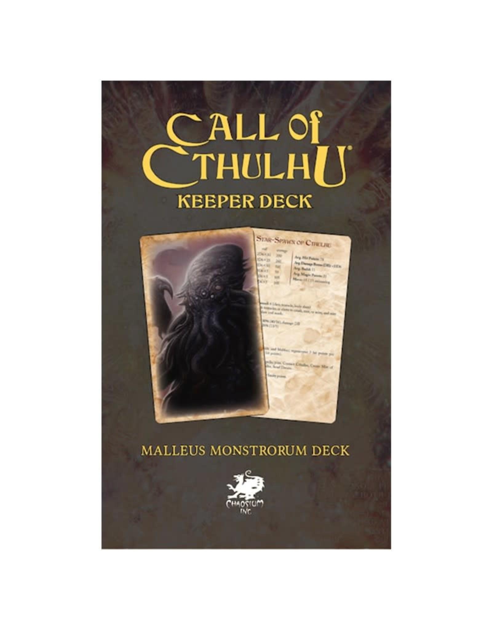 Chaosium Inc. Call of Cthulhu RPG 7E: Malleus Monstrorum Keeper Deck