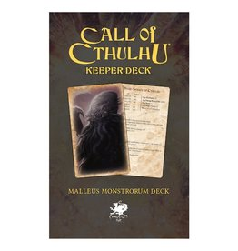 Chaosium Inc. Call of Cthulhu RPG 7E: Malleus Monstrorum Keeper Deck