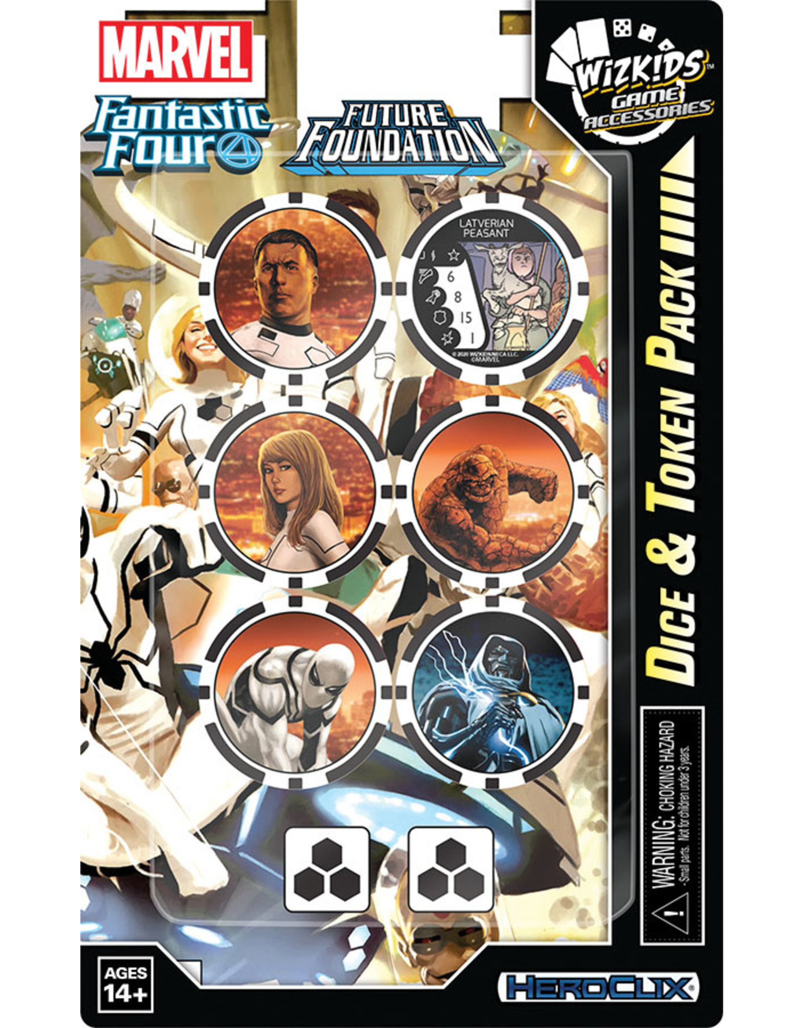 Wizkids Fantastic Four Future Foundation Dice and Token Pack - Marvel Heroclix