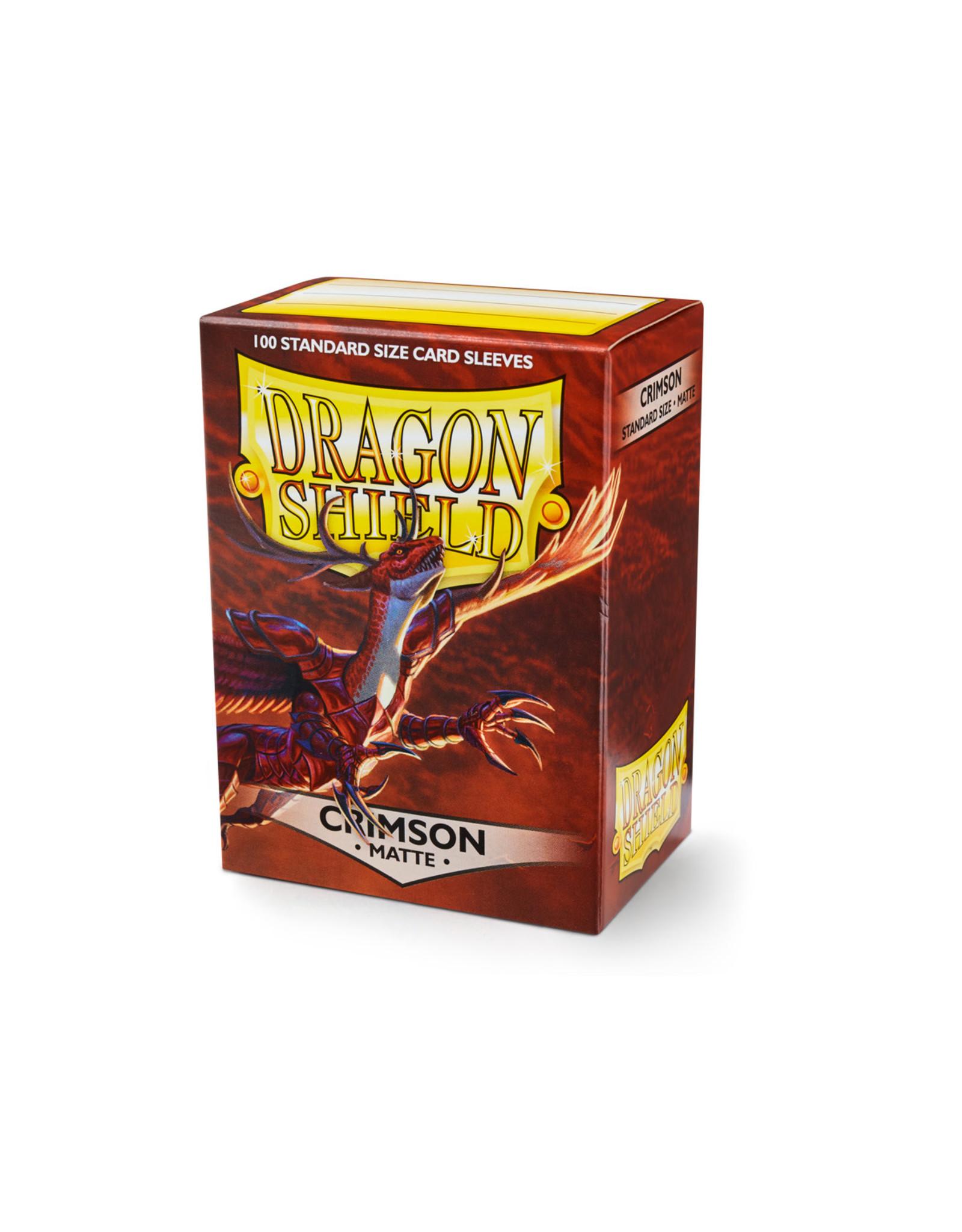 Arcane Tinmen Dragon Shield: Matte Crimson Card Sleeves 100 Count