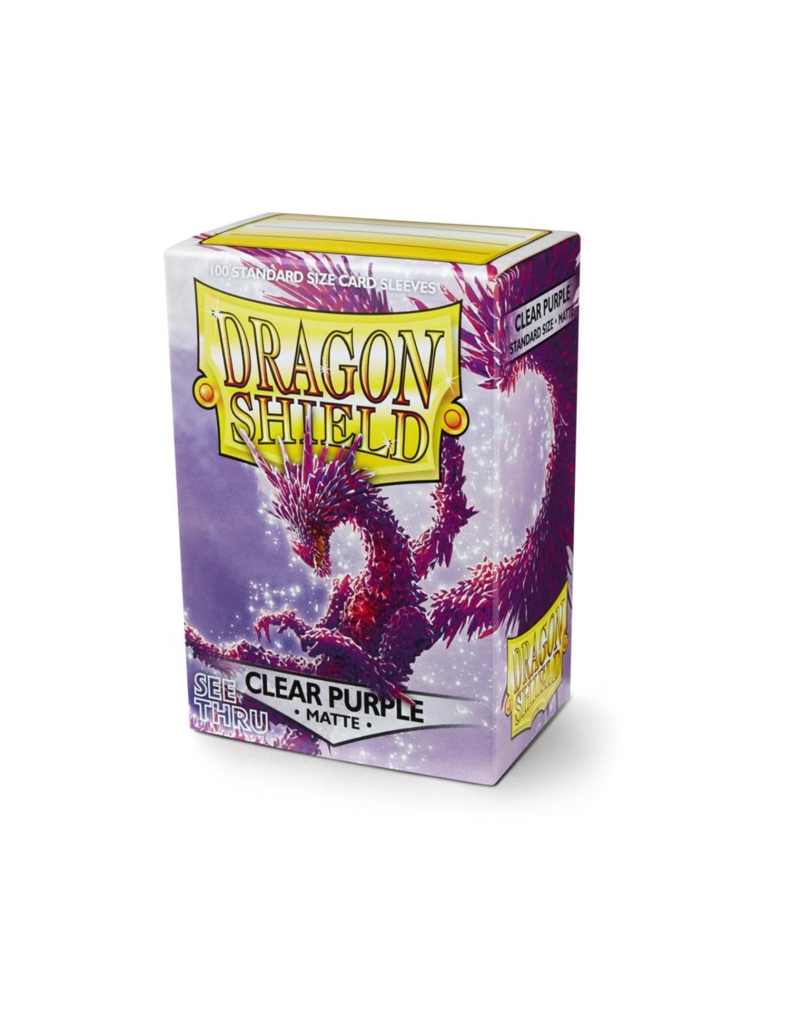 Arcane Tinmen Dragon Shield: Matte Clear Purple Card Sleeves 100 Count