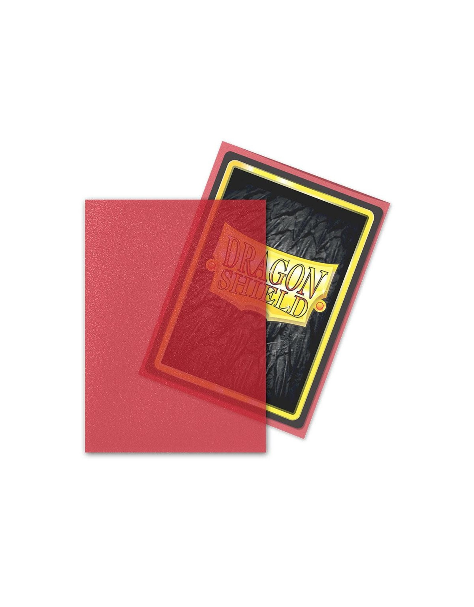 Arcane Tinmen Dragon Shield: Matte Clear Red Card Sleeves 100 Count