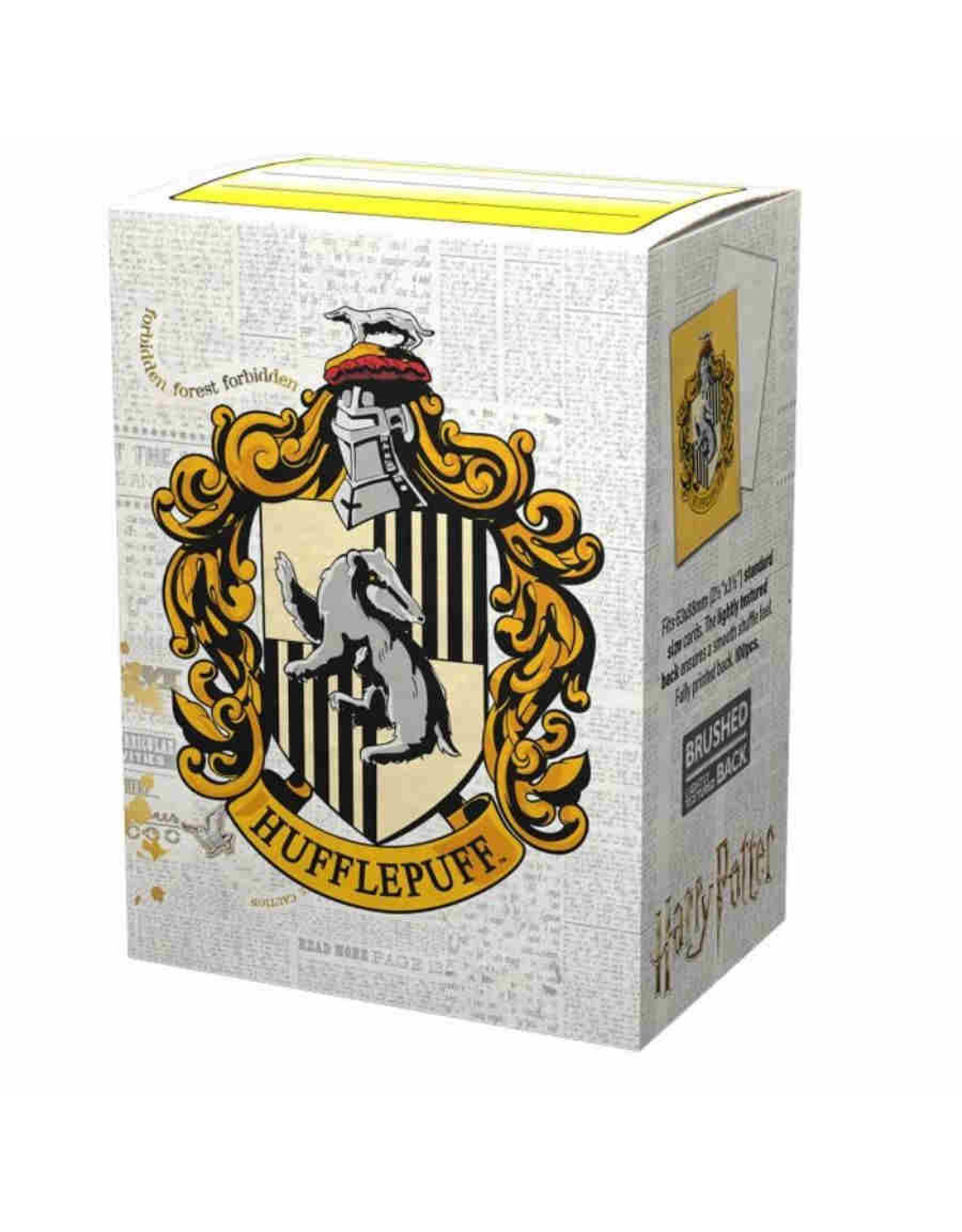 Arcane Tinmen Brushed Art: HP Hufflepuff (Box of 100) - Dragon Shield Sleeves