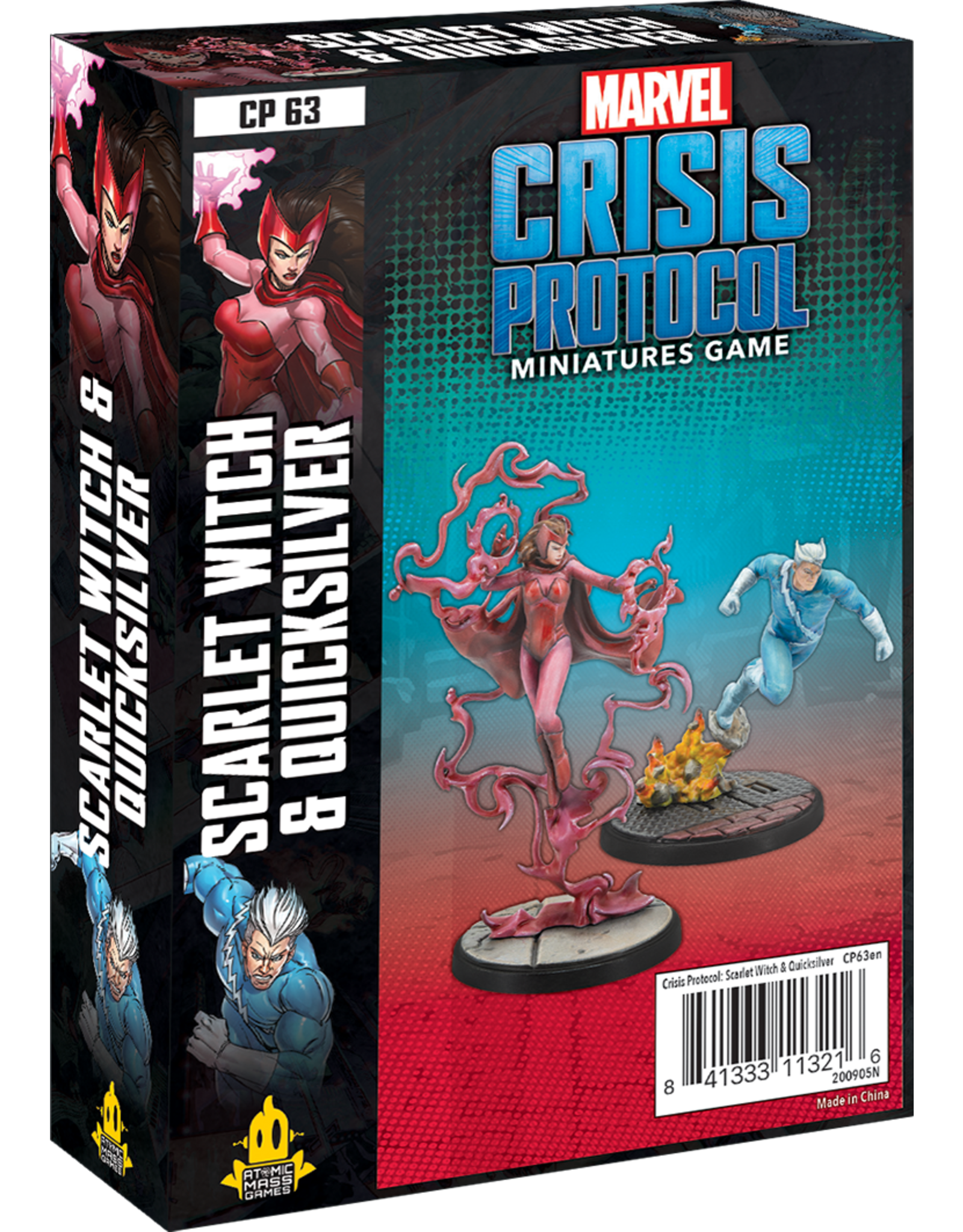 Atomic Mass Games Scarlet Witch and Quicksilver - Marvel Crisis Protocol