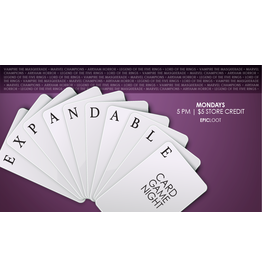 Expandable Card Game Night 8/2 5PM