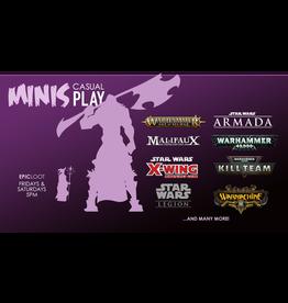 Minis Casual Play - Fri 8/20 - 5PM