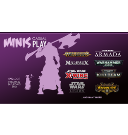 Minis Casual Play - Sat 8/21 - 5PM