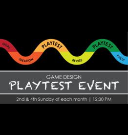 Game Design Playtest Event - Sun - 9/26 - 12:30PM