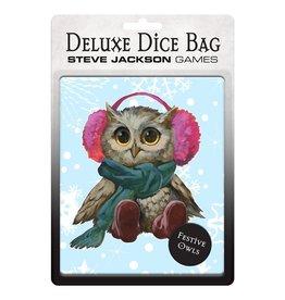 Steve Jackson Games Deluxe Dice Bag: Festive Owls