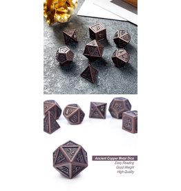 Metal & Enamel Dice Set (7pcs) Copper