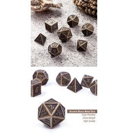 Metal & Enamel Dice Set (7pcs) Bronze
