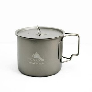 Toaks Titanium TOAKS TITANIUM POT WITH LID AND HANDLE 550ML