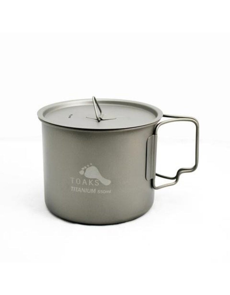 Toaks Titanium TOAKS TITANIUM POT WITH LID 550ML