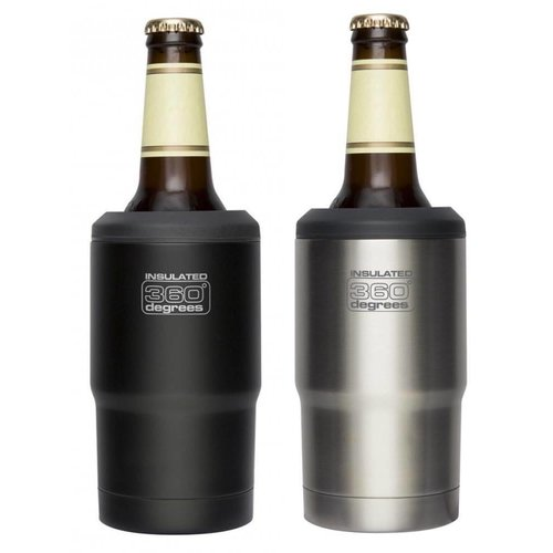 360 DEGREES 360 DEGREES STAINLESS STEEL VACUUM INSLATED BEER COZY