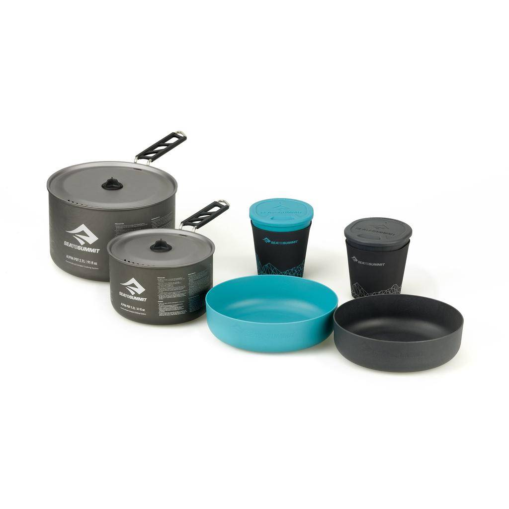 SEA TO SUMMIT SEA TO SUMMIT ALPHA 2 POT COOK SET 2.2 (1.2 PLUS 2.7L POTS)