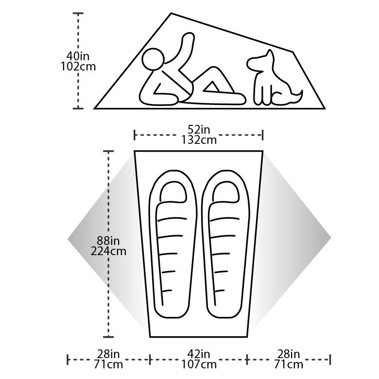 BIG AGNES BIG AGNES COPPER SPUR  UL2 CLASSIC ULTRALIGHT TENT