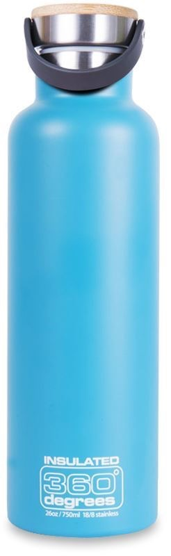 360 DEGREES 360 DEGREES WIDE MOUTH INSULATED STAINLESS STEEL 1L BOTTLE, TEAL, #