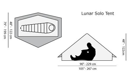 Six Moon Designs SIX MOON DESIGNS LUNAR SOLO ULTRALIGHT TENT