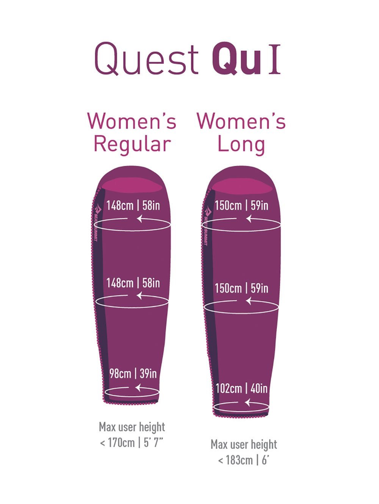 SEA TO SUMMIT SLEEPING BAG QUEST QUI- WOMENS REGULAR