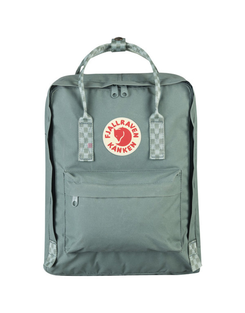 FJALLRAVEN FJALLRAVEN KANKEN PACK FROST GREEN - CHESS PATTERN